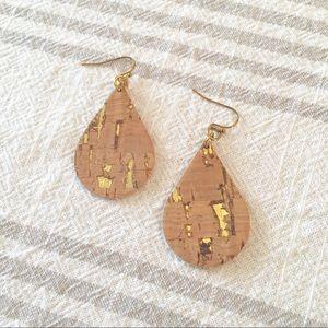 Jewelry - Gold Fleck Cork Earrings